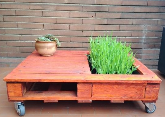 DIY chaTable Pallet Coffee Table With Mini Garden • 1001 Pallets